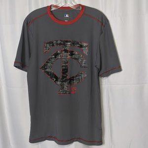 Minnesota Twins Medium Camo Logo Shirt MLB Grey